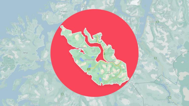 kart over balsfjord kommune